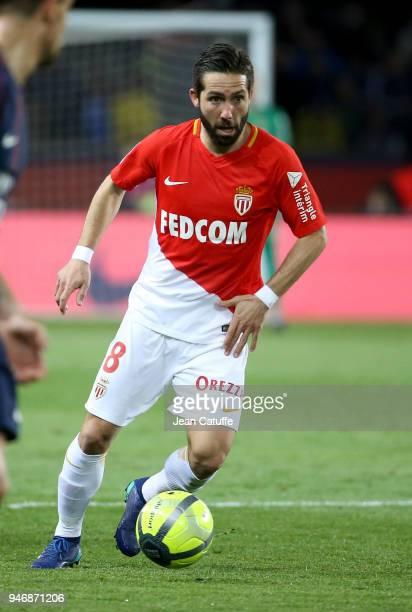Joao Moutinho of Monaco during the Ligue 1 match between Paris Saint Germain and AS Monaco at Parc des Princes stadium on April 15 2018 in Paris