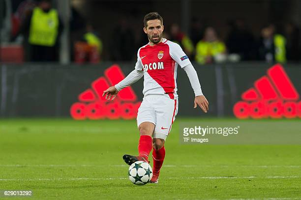 Joao Moutinho of Monaco in action during the UEFA Champions League match between Bayer Leverkusen and AS Monaco at the BayArena in Leverkusen Germany...