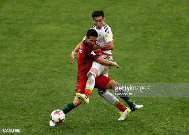Joao Moutinho of Portugal and Hector Herrera of Mexico battle for possession during the FIFA Confederations Cup Russia 2017 PlayOff for Third Place...