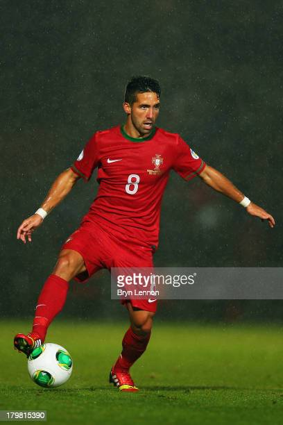Joao Moutinho of Portugal in action during the FIFA 2014 World Cup Qualifying Group F match between Northern Ireland and Portugal at Windsor Park on...