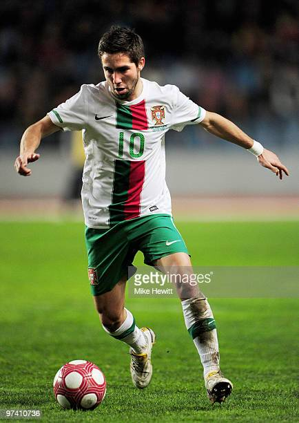 Joao Moutinho of Portugal in action during the International Friendly match between Portugal and Republic of China at the City of Coimbra Stadium on...