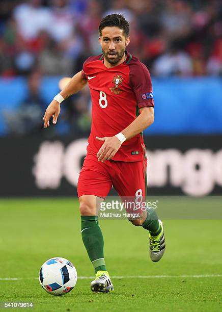 Joao Moutinho of Portugal in action during the UEFA EURO 2016 Group F match between Portugal and Austria at Parc des Princes on June 18 2016 in Paris...