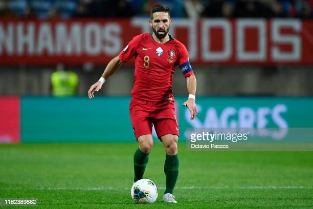Joao Moutinho of Portugal in action during the UEFA Euro 2020 Qualifier match between Portugal and Lithuania at Algarve Stadium on November 14, 2019...