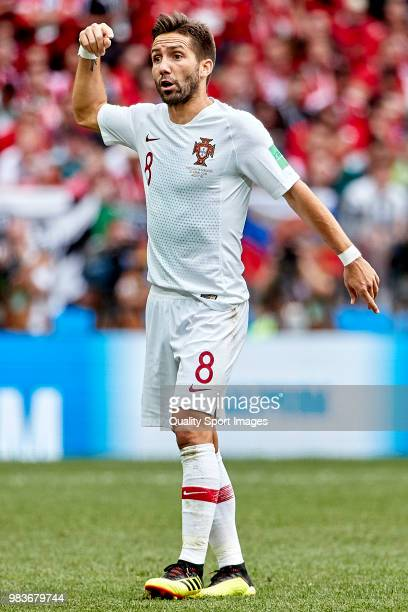Joao Moutinho of Portugal reacts during the 2018 FIFA World Cup Russia group B match between Portugal and Morocco at Luzhniki Stadium on June 20 2018...