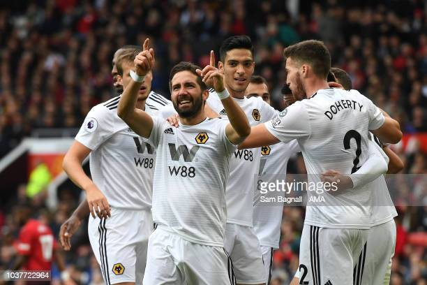 Joao Moutinho Of Wolverhampton Wanderers Celebrates After Scoring A Goal To Make It  During The