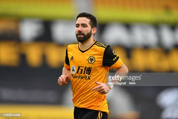 Joao Moutinho of Wolverhampton Wanderers during the Premier League match between Wolverhampton Wanderers and West Bromwich Albion at Molineux on...