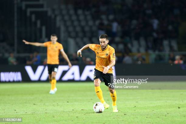 Joao Moutinho of Wolverhampton Wanderers Fc in action during the UEFA Europa League playoff first leg football match between Torino Fc and...