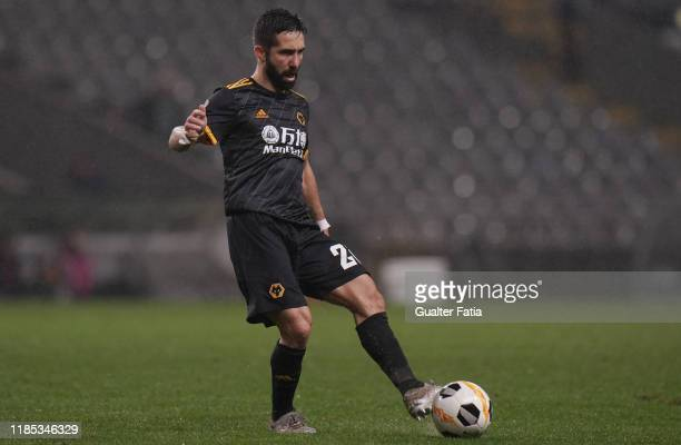 Joao Moutinho of Wolverhampton Wanderers in action during the Group K UEFA Europa League match between SC Braga and Wolverhampton Wanderers at...
