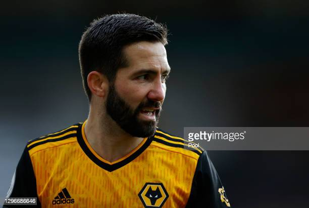 Joao Moutinho of Wolverhampton Wanderers looks on during the Premier League match between Wolverhampton Wanderers and West Bromwich Albion at...
