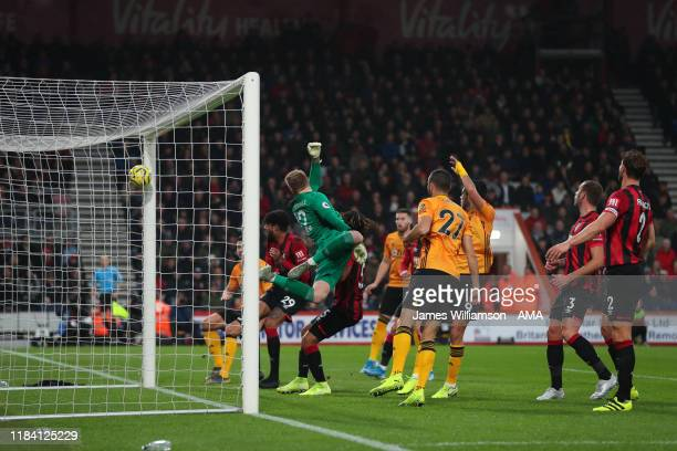 Joao Moutinho of Wolverhampton Wanderers scores a goal to make it 0-1 during the Premier League match between AFC Bournemouth and Wolverhampton...