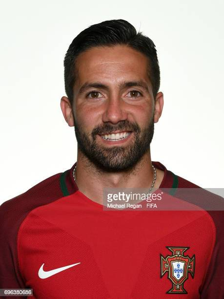 Joao Moutinho poses for a picture during the Portugal team portrait session on June 15 2017 in Kazan Russia