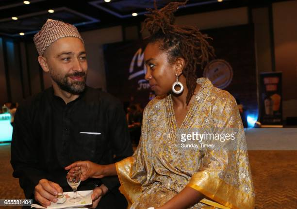 Joao Orecchia and Lindiwe Matshikiza on the red carpet during the South African Film and Television Awards at Sun City on March 18 2017 in Rustenburg...