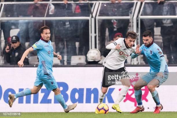 Joao Pedro Da Silva Pereira of Trabzonspor Adem Ljajic of Besiktas JK Huseyin Turkmen of Trabzonspor during the Turkish Spor Toto Super Lig football...