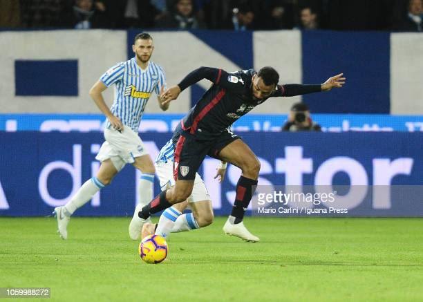 Joao Pedro of Cagliari in action during the Serie A match between SPAL and Cagliari at Stadio Paolo Mazza on November 11 2018 in Ferrara Italy