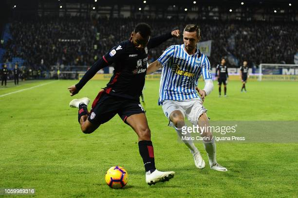 Joao Pedro of Cagliari in action during the Serie A match between SPAL and Cagliari at Stadio Paolo Mazza on November 10 2018 in Ferrara Italy