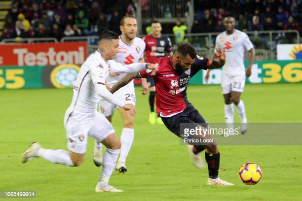 Joao Pedro of Cagliari in action during the Serie A match between Cagliari and Torino FC at Sardegna Arena on November 26 2018 in Cagliari Italy