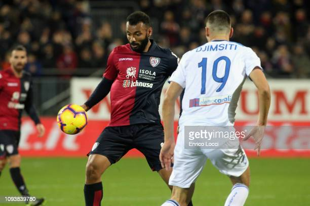 Joao Pedro of Cagliari in action during the Serie A match between Cagliari and Atalanta BC at Sardegna Arena on February 4 2019 in Cagliari Italy
