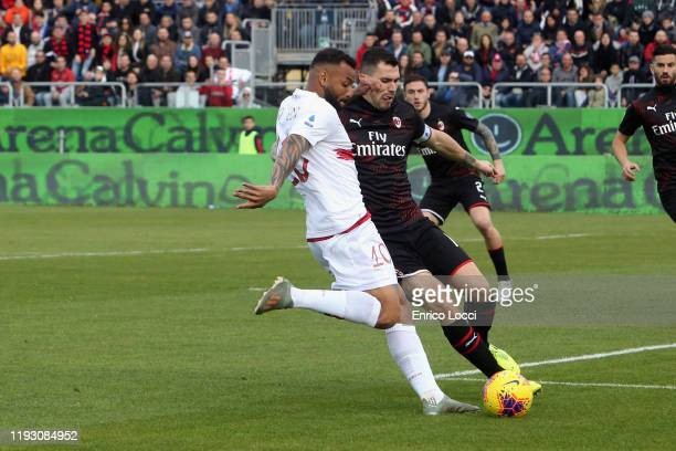 Joao Pedro of Cagliari in action during the Serie A match between Cagliari Calcio and AC Milan at Sardegna Arena on January 11 2020 in Cagliari Italy