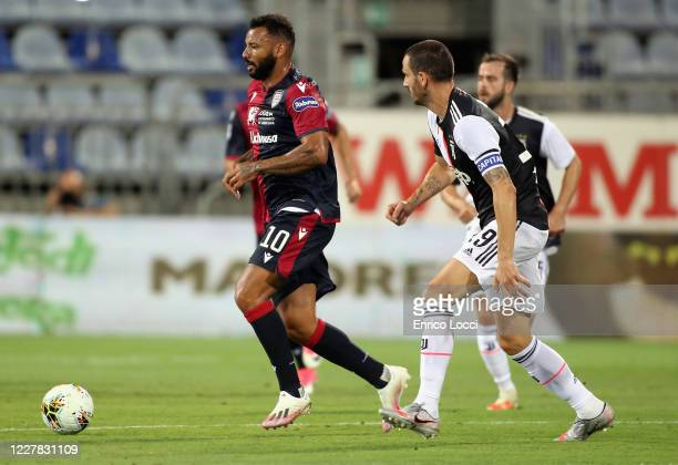 Joao Pedro of Cagliari in action during the Serie A match between Cagliari Calcio and Juventus at Sardegna Arena on July 29, 2020 in Cagliari, Italy.