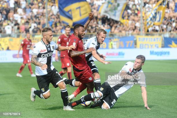Joao Pedro of Cagliari reacts during the serie A match between Parma Calcio and Cagliari at Stadio Ennio Tardini on September 22 2018 in Parma Italy