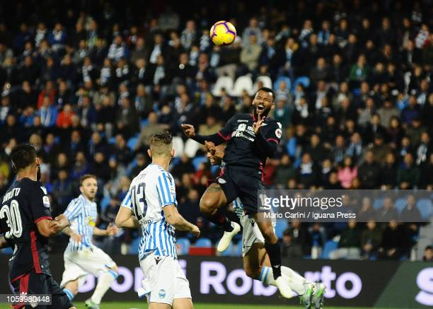 Joao Pedro of Cagliari reacts during the Serie A match between SPAL and Cagliari at Stadio Paolo Mazza on November 11 2018 in Ferrara Italy