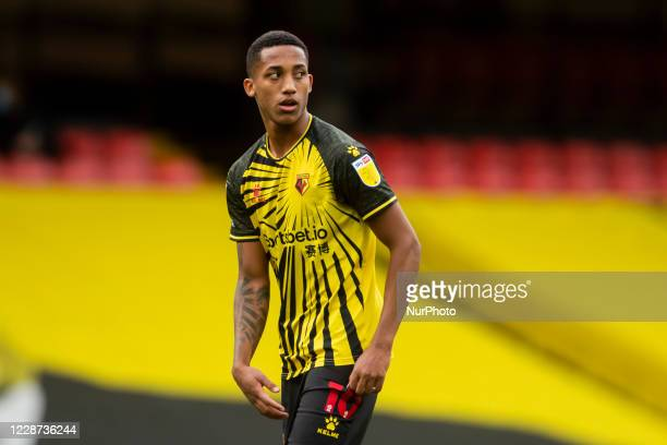 Joao Pedro of Watford during the Sky Bet Championship match between Watford and Luton Town at Vicarage Road Watford England on September 26 2020