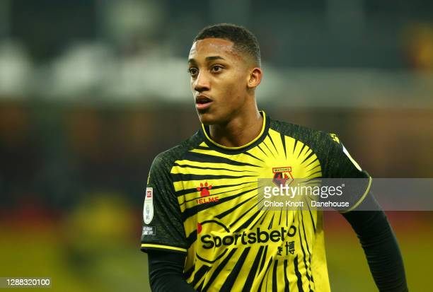 Joao Pedro of Watford FC during the Sky Bet Championship match between Watford and Preston North End at Vicarage Road on November 28, 2020 in...