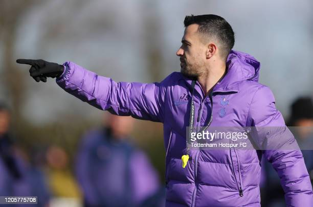 Joao Sacramento, Assistant Head Coach of Tottenham Hotspur during the Tottenham Hotspur training session at Tottenham Hotspur Training Centre on...