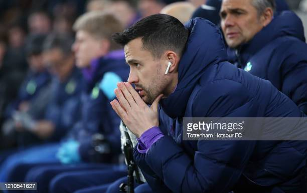 Joao Sacramento, Assistant Head Coach of Tottenham Hotspur during the FA Cup Fifth Round match between Tottenham Hotspur and Norwich City at...