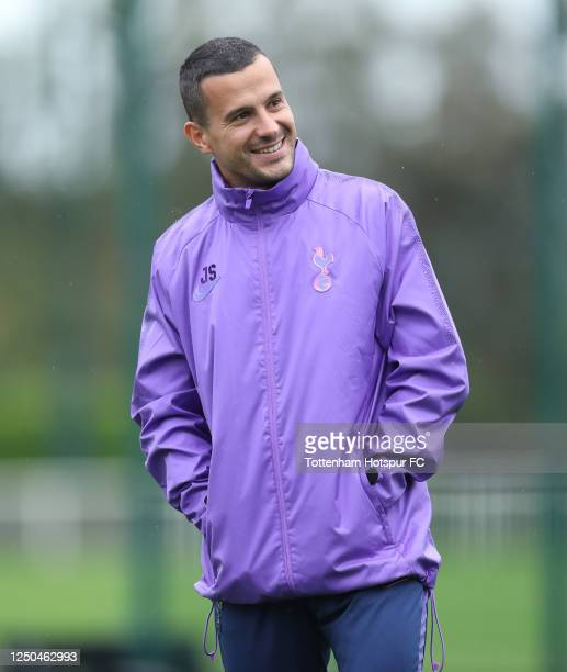 Joao Sacramento Assistant Head Coach of Tottenham Hotspur during the Tottenham Hotspur training session at Tottenham Hotspur Training Centre on June...