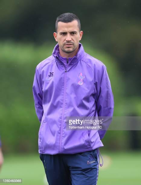 Joao Sacramento, Assistant Head Coach of Tottenham Hotspur during the Tottenham Hotspur training session at Tottenham Hotspur Training Centre on June...