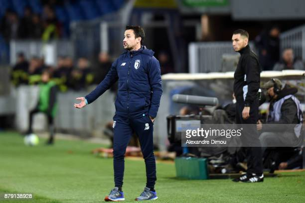 Joao Sacramento Coach of Lille during the Ligue 1 match between Montpellier Herault SC and Lille OSC at Stade de la Mosson on November 25 2017 in...