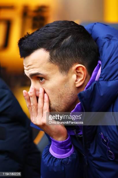 Joao Sacramento Tottenham Hotspur Assistant Coach looks on during the Premier League match between Wolverhampton Wanderers and Tottenham Hotspur at...