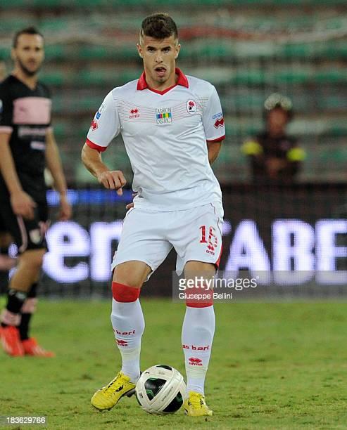 Joao Silva of Bari in action during the Serie B match between AS Bari and US Citta di Palermo at Stadio San Nicola on September 24 2013 in Bari Italy