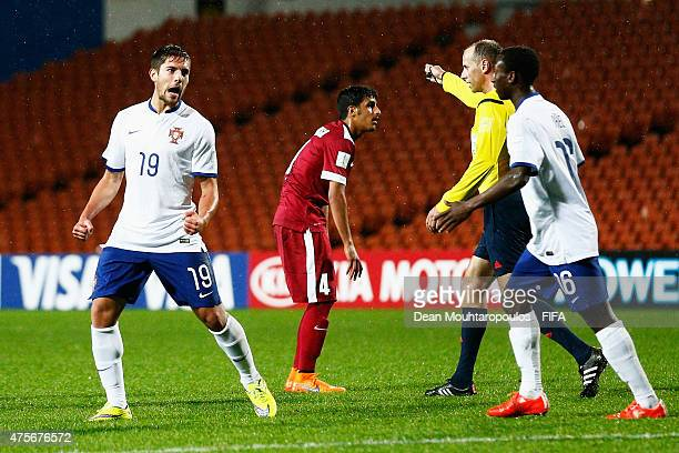 Joao Vigario of Portugal celebrates after he shoots and scores the fourth goal of the game during the FIFA U20 World Cup New Zealand 2015 Group C...