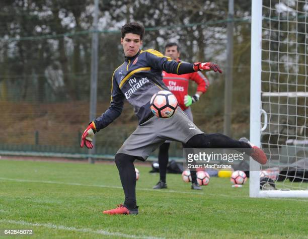 Joao Virginia of Arsenal during a training session on February 19 2017 in St Albans England