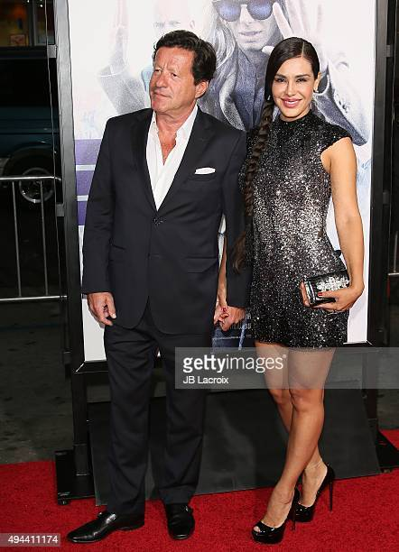 Joaquim de Almeida and Carla Ortiz attend the premiere of Warner Bros Pictures' 'Our Brand Is Crisis' at TCL Chinese Theatre on October 26 2015 in...
