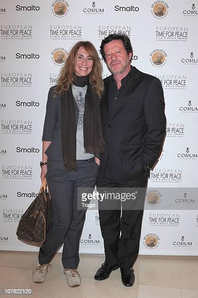 Joaquim de Almeida and Caroline attend European Time For Peace Awards at Hotel Ritz on December 10 2010 in Paris France