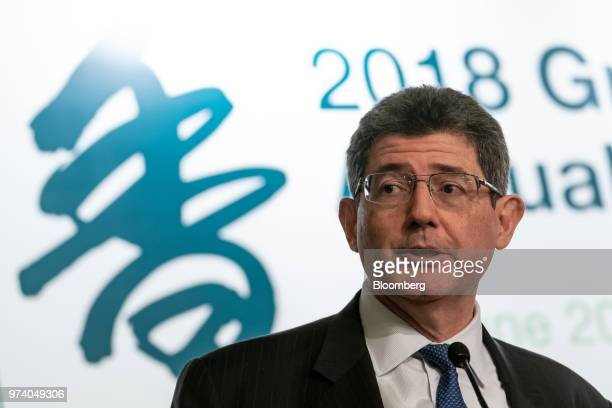 Joaquim Levy managing director and chief financial officer of the World Bank Group speaks during the Green and Social Bond Principles Annual General...