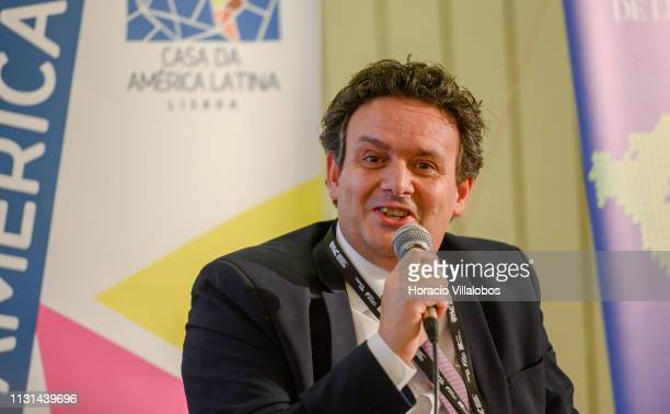 Joaquim Paulo da Conceição CEO of Grupo NOV participates in a discussion panel at 'Open Days PME Connect' business networking event for small and...