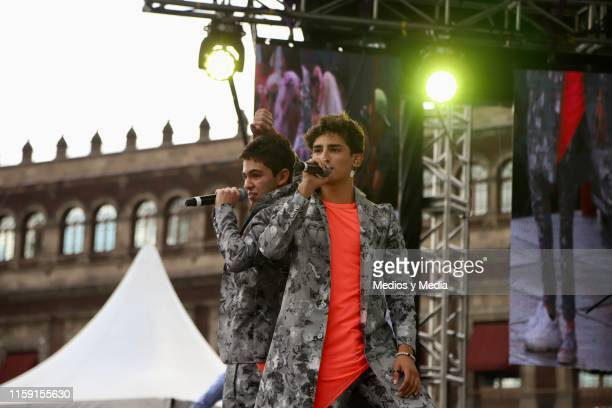 Joaquin Bondoni and Emilio Osorio performs on stage during the 41 LGBTTTI Pride Parade and concert on June 29 2019 in Mexico City Mexico