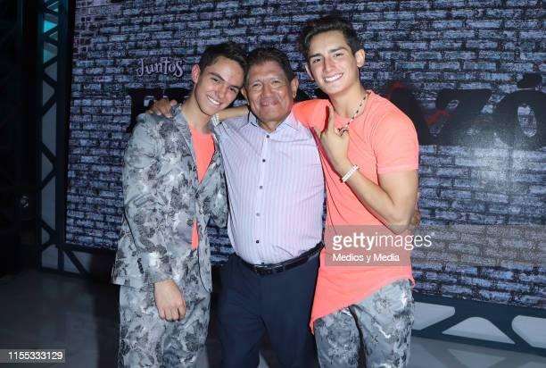 Joaquin Bondoni Juan Osorio and Emilio Osorio poses for photos during the presentation of the new TV show 'El CorazÛn Nunca se Equivoca' at Televisa...