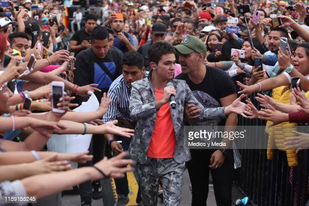 Joaquin Bondoni performs on stage during the 41 LGBTTTI Pride Parade and concert on June 29 2019 in Mexico City Mexico