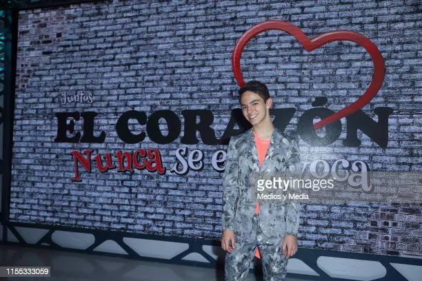Joaquin Bondoni poses for photos during the presentation of the new TV show 'El CorazÛn Nunca se Equivoca' at Televisa San Angel on June 11 2019 in...