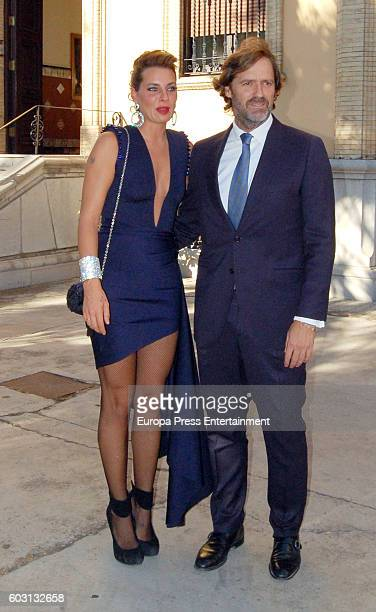 Joaquin Buendia and Alejandra Osborne attend Teresa Roca de Togores y Ortiz and Francisco Landeta y Rospide's wedding on September 10 2016 in Seville...