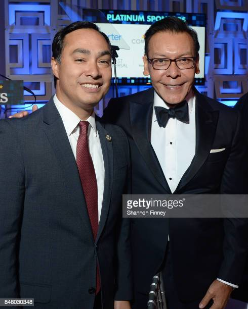 Joaquin Castro and Felix Sanchez at the National Hispanic Foundation for the Arts 2017 Noche de Gala at The Mayflower Hotel on September 11 2017 in...