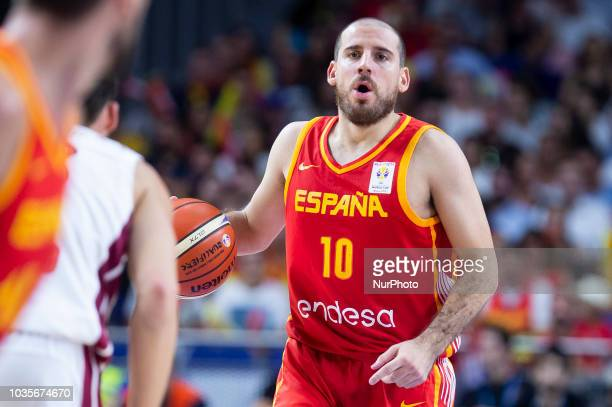 Joaquin Colom of Spain during the FIBA Basketball World Cup Qualifier match Spain against Latvia at Wizink Center in Madrid Spain September 17 2018