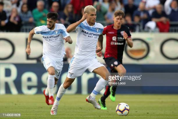 Joaquin Correa of lazio in action during the Serie A match between Cagliari and SS Lazio at Sardegna Arena on May 11 2019 in Cagliari Italy