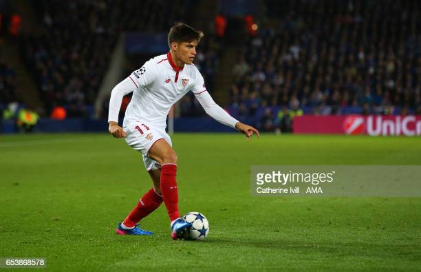 Joaquin Correa of Sevilla during the UEFA Champions League Round of 16 second leg match between Leicester City and Sevilla FC at The King Power...