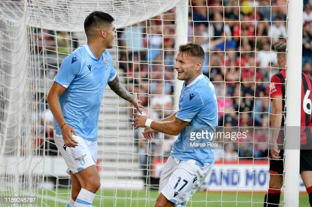 Joaquin Correa of SS lazio celebrate a opening goal with his team mates during the PreSeason Friendly match between AFC Bournemouth and SS Lazio at...